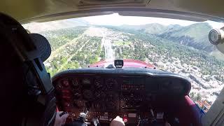 Flight to Sun Valley -- Landing at KSUN - Hailey, Idaho. (No Intercom/ATC Audio)