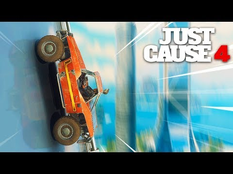 Just Cause 4 - WALL RIDING A CAR UP A SKYSCRAPER!