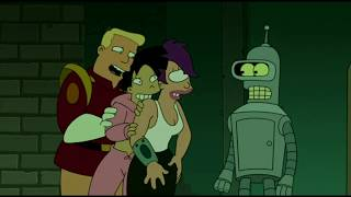 Futurama ITA - Bender aiuta a nascondere Leela, Amy e Zapp dal Tentacolo!