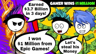 What if a Gamer wins a Lottery from Epic Games | Fortnite Battle Royale
