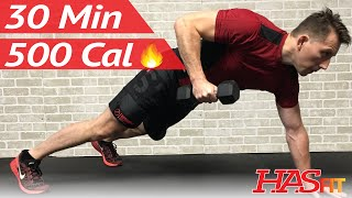 30 Minute HIIT Workout - Spartan Warrior Fat Burning High Intensity Interval Training Workouts by HASfit