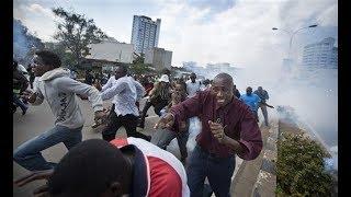 BREAKING NEWS: Police engage protesting Marikiti traders in running battles