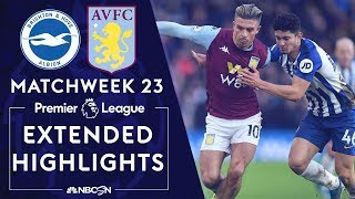 Brighton v. Aston Villa | PREMIER LEAGUE HIGHLIGHTS | 1/18/2020 | NBC Sports