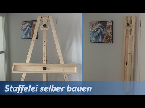Staffelei selber bauen - how to make an easel