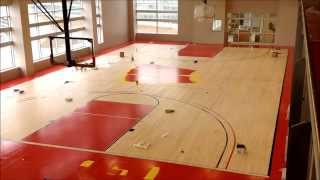 Building the Basketball Court at The American Center