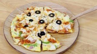 고급진 풍미를 자랑하는 계란요리♥NO밀가루 계란피자 만들기 No Dough Homemade Pizza Recipe [램블]
