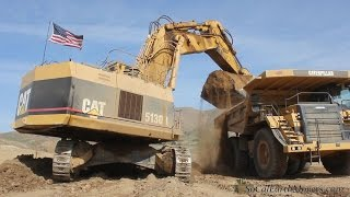 CAT 5130B loading 777F and 773B trucks