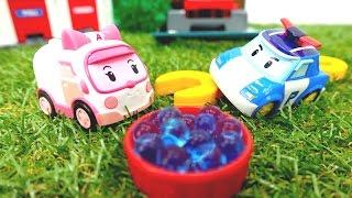 Машинки онлайн (видео  машинки). Игрушки из мультфильмов Робокар Поли и его друзья лечатся у Эмбер!