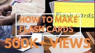How To Make Flash Cards,#flashcards   MokshithaS World