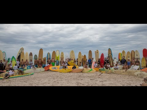 Dick Catri Paddle Out and Memorial at Sebastian Inlet