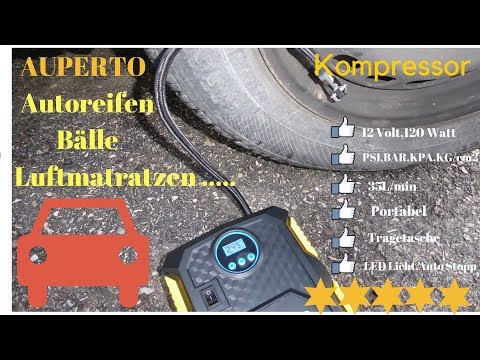 Review: AUPERTO D005 12 Volt 10 BAR Transportabler Auto Kompressor