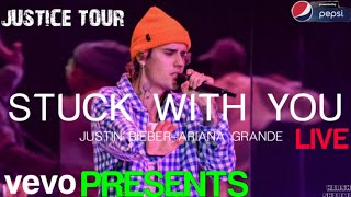 Justin Bieber & Ariana Grande stuck with you live performance in London 10 may  2020