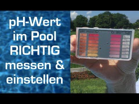 pH Wert im Pool Wasser ► RICHTIG ◄ messen und einstellen