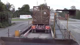 Australian Sugar Cane Harvest Truck Unloading at the Mill