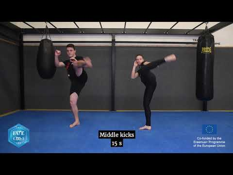 Kickboxing for all! - FATE Instructional & Training video - YouTube