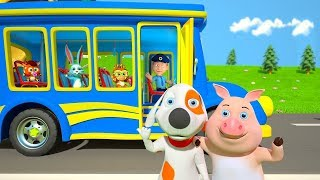 Wheels On The Bus | Kindergarten Nursery Rhymes For Children | Music For Kids | Little Treehouse