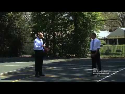 President Obama Plays HORSE with CBS' Clark Kellogg