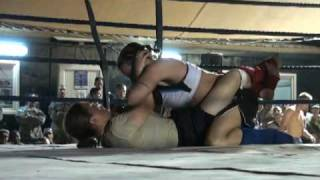 preview picture of video 'FOB Warhorse Female MMA Combatives Fight July 3, 2010 1st Round'