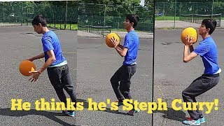 When your brother thinks he is Stephen Curry!!😂Funny Basketball Video!!