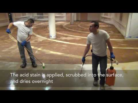 Acid Staining Concrete by TTM Finishes Inc.