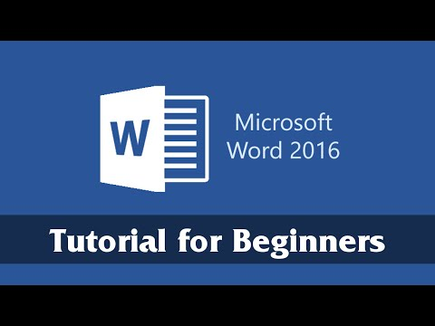 Introduction to Microsoft Word 2016 – Getting Started Tutorial for Beginners