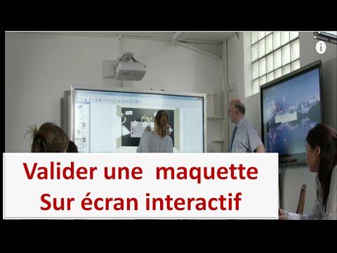 Utilisation de l'écran interactif Easypitch chez Guy Hoquet
