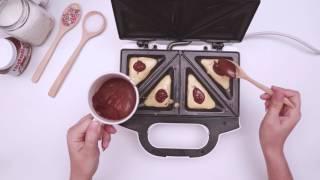 สอนทำขนม Pancake Nutella แพนเค้ก ช๊อคโกแลต น่าอร่อย