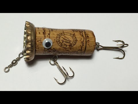 DIY - Fishing - How to make Topwater Lure From Wine Cork(4)