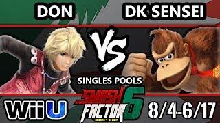 Smash Factor 6 Smash 4 - MH | DK Sensi (Donkey Kong) Vs. TFY | Fuerza Don (Shulk) Smash Wii U