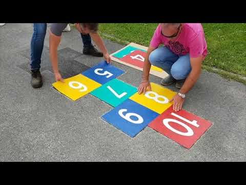 Instalación de juegos en el suelo - FERCITY