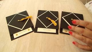 How To Make A Super Easy Graduation Card, Invitation And Tassel