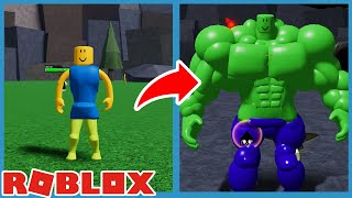 I Became The Biggest Noob Hulk In Roblox