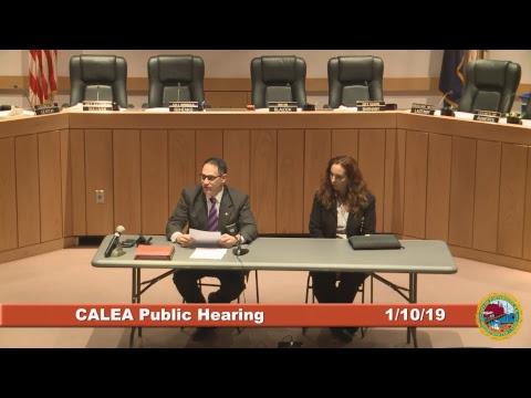Public Hearing of the CALEA Accreditation Program 1.10.2019