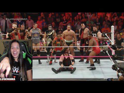 WWE Raw 10/12/15 Kane vs Seth Rollins LumberJack Match