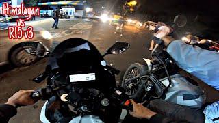 HIMALAYAN vs R15 V3 (Devil) | STREET RACE