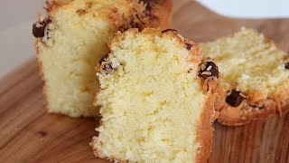 How To Make Fluffy Coconut Chocolate Chip Pound Cake / Delicious Cake