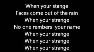the doors people are strange lyrics