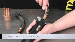 Heres a quick video which shows how to replace a conductor tube