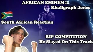 🇿🇦South African🇿🇦 Reacts To 🇰🇪KHALIGRAPH JONES🇰🇪 - RIP COMPITITION !!! | AFRICAN EMINEM !?! |