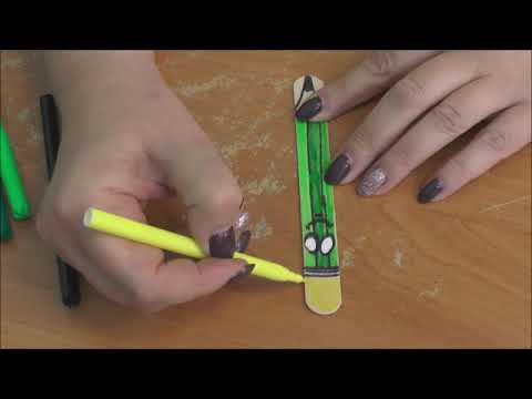 Мастер-класс Татьяны Александровны Пономаревой «Закладка-карандаш»