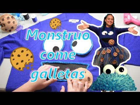 """Disfraz """"Monstruo come galletas"""" con Tutú"""