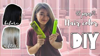 DIY HAIR COLOR | SULIT TIPID! | (Ash Blonde) BREMOD | HOW TO BLEACH YOUR HAIR PROPERLY (Kaira G)
