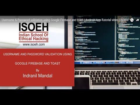 Username & Password validation using Google Firebase and toast ...