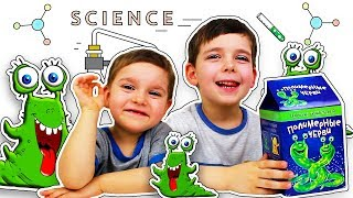 Делаем полимерные черви Научные игры для детей в домашних условиях Развивающее видео
