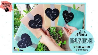 What is Inside Open When Letters | 12 Letters Content | Handmade Gift Ideas