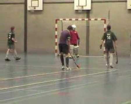 Zaalhockey wedstrijd HCE JC2 - Boxmeer JC1