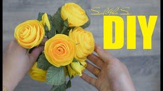 DIY Soli4ka_s Літня кущова троянда/ летняя кустовая роза/ Crepe Paper Rose