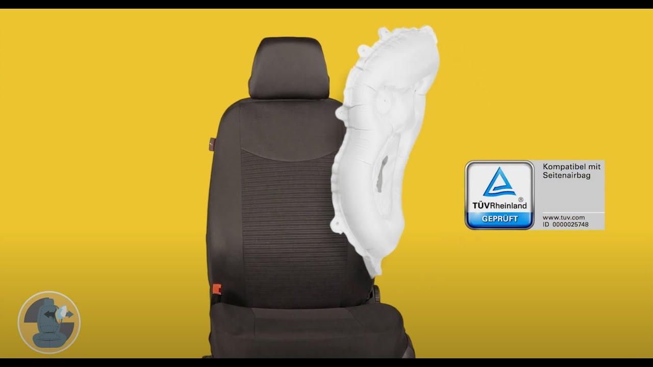 Vorschau: Passform Sitzbezug Bari für Hyundai i10 (BA, IA) 08/2013-Heute, 2 Einzelsitzbezüge für Normalsitze