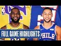 LAKERS at 76ERS   FULL GAME HIGHLIGHTS   January 25, 2020