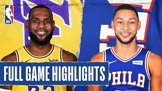 LAKERS at 76ERS | FULL GAME HIGHLIGHTS | January 25, 2020